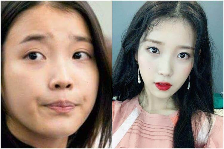 IU tanpa make up