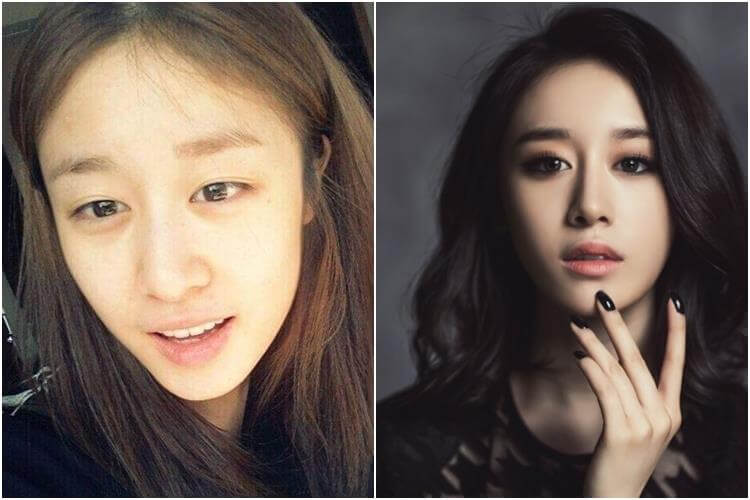 Jiyeon tanpa make up