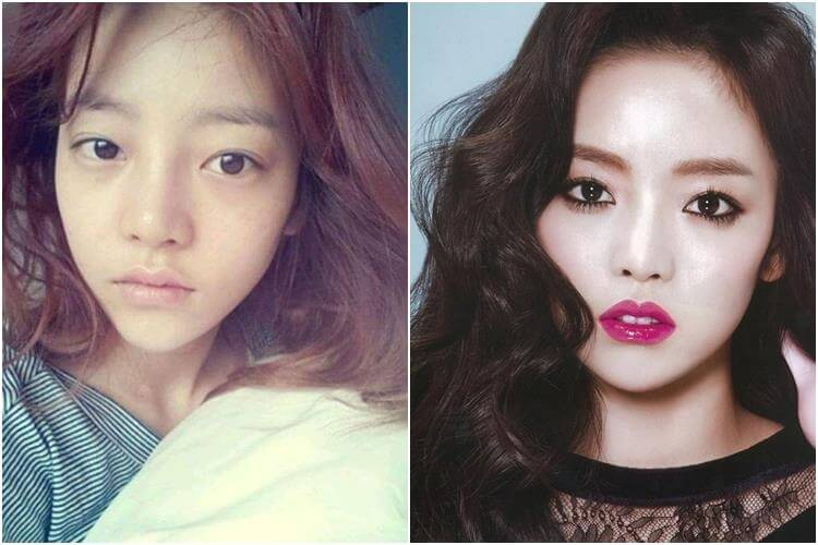 Goo Hara tanpa make up