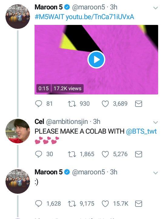 BTS Maroon 5