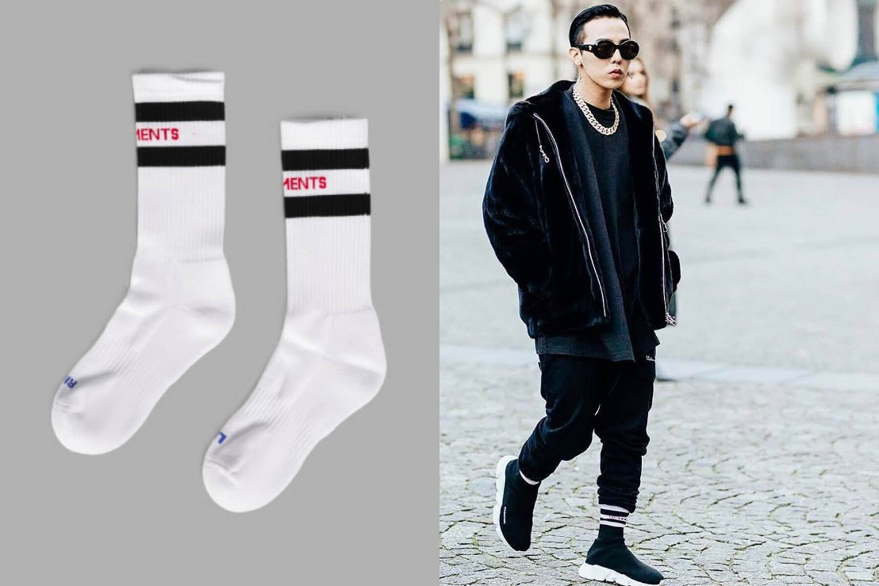 G-Dragon BIGBANG – Vetemen Socks ($85 USD)