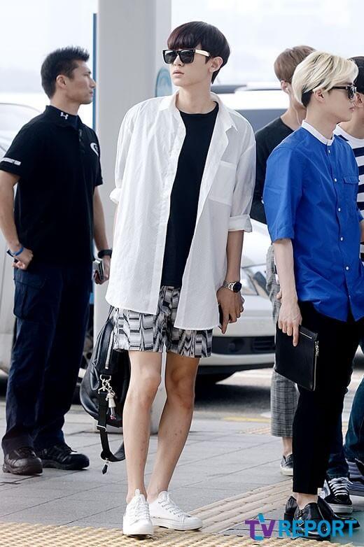 gaya berpakaian chanyeol exo