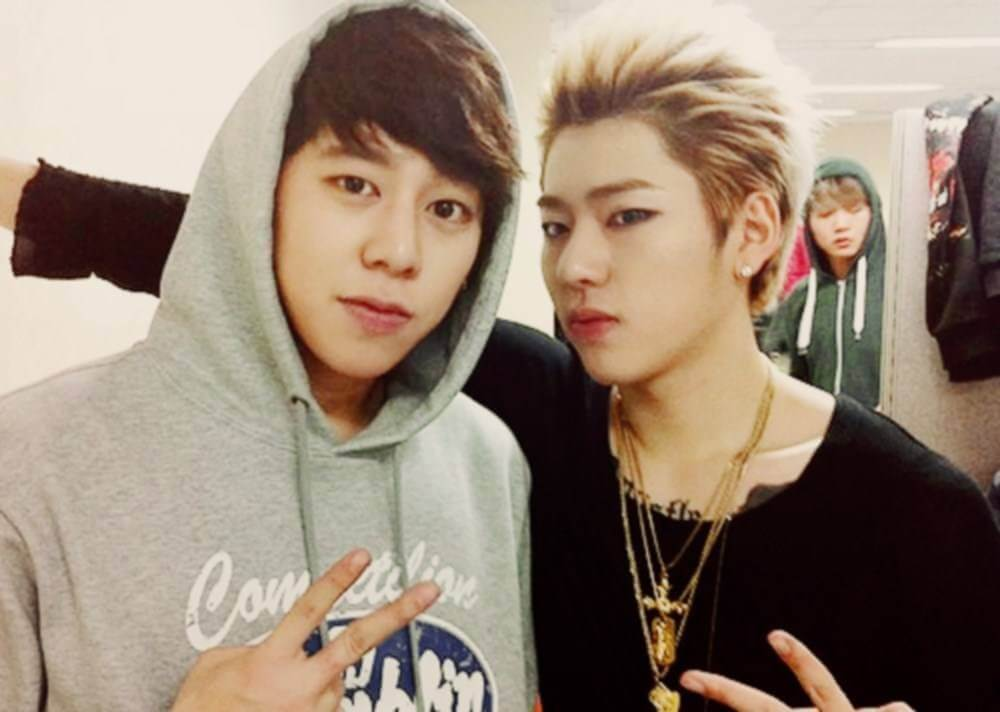 Zico (Block B) & Taewoon (former co-ed and Speed)